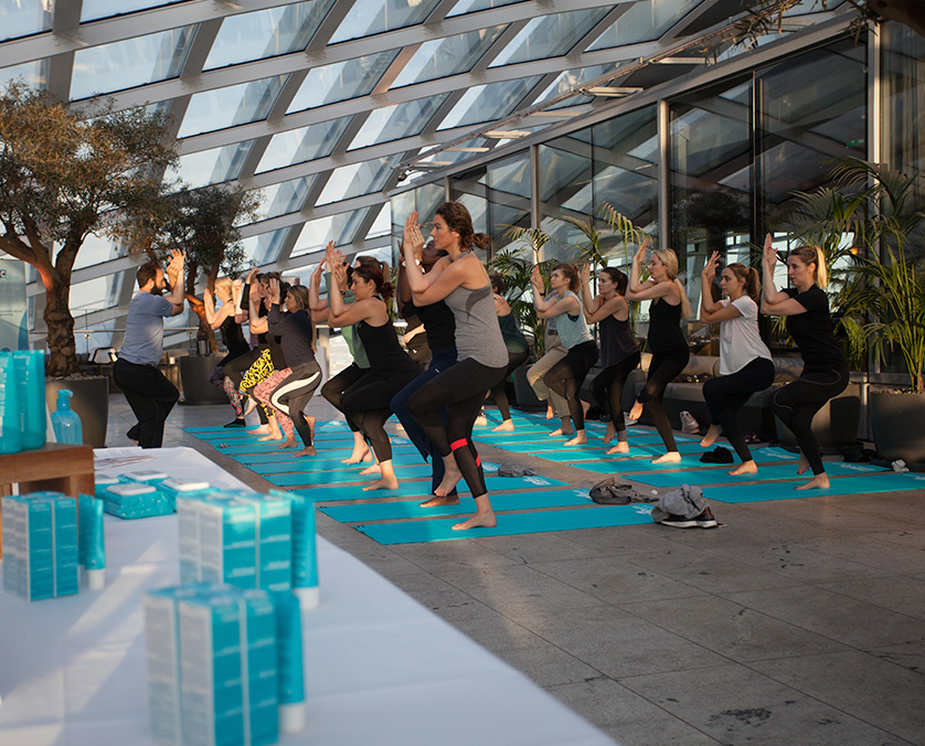 Chase PR yoga event London